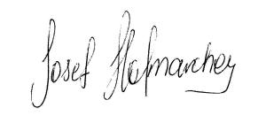 Unterschrift Josef Hofmarcher