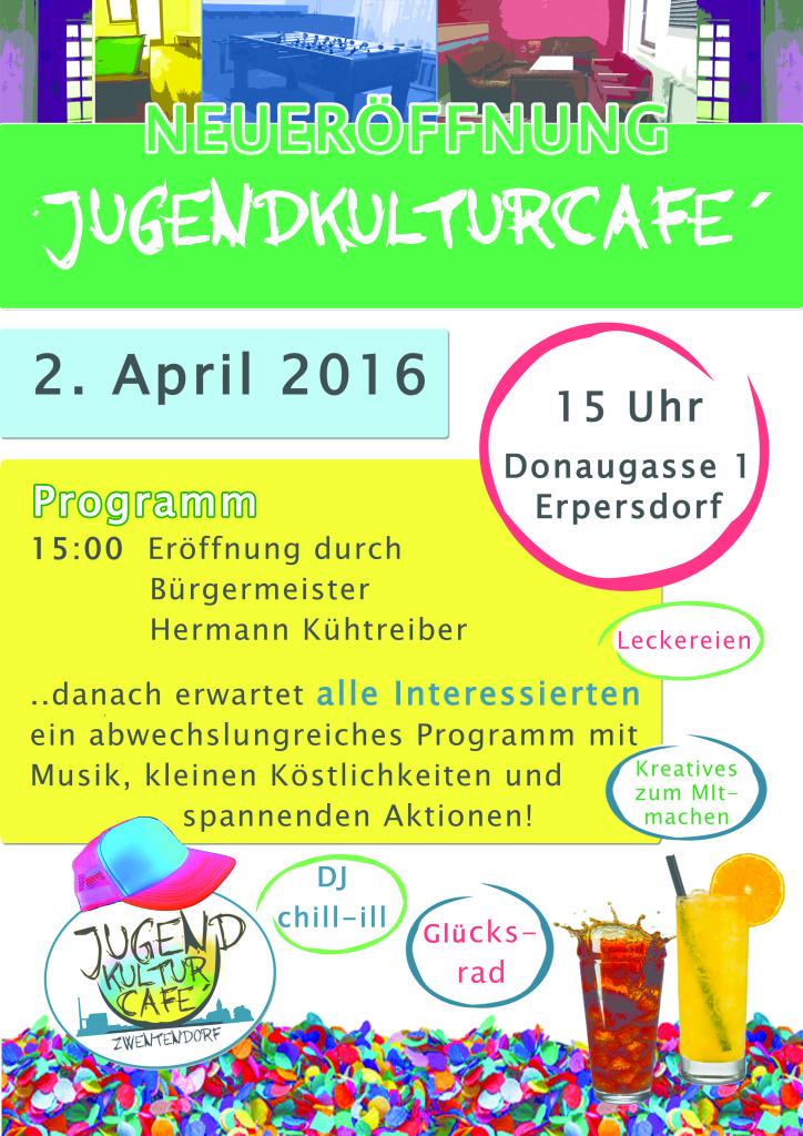 Plakat Eröffnung Jugendkultur Cafe