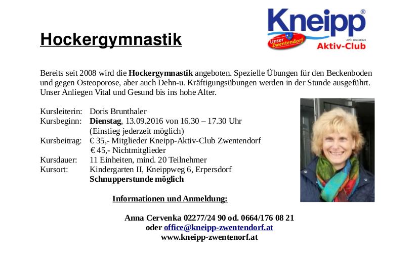 VHS Herbst 2016 Hockergymnastik