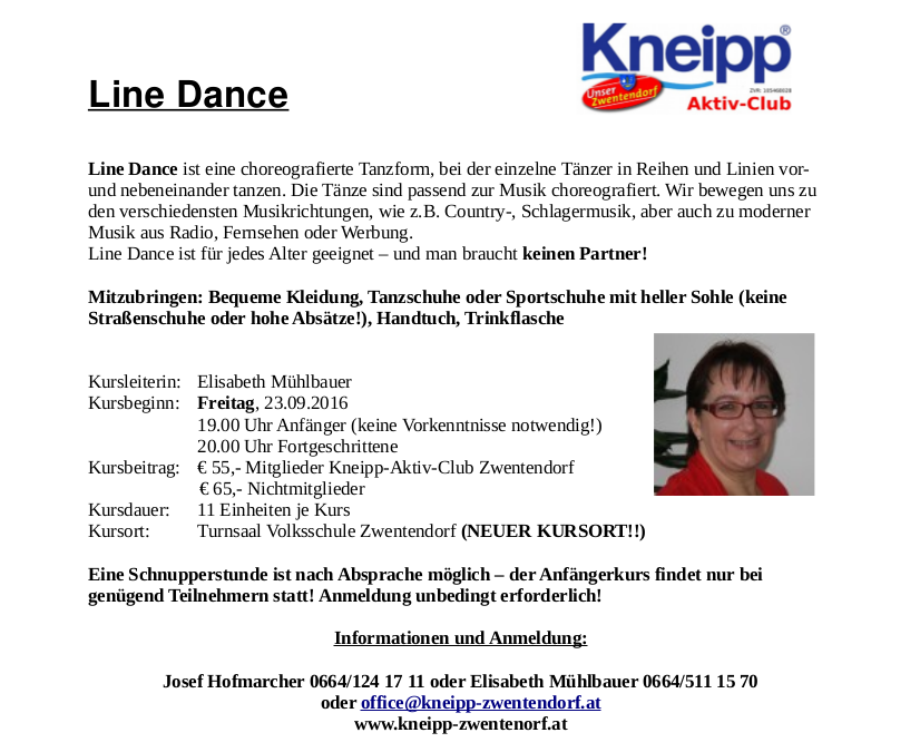 VHS Herbst 2016 Line Dance